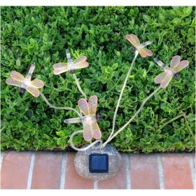 Decorative garden dragonflies solar lights outdoor figurine decorative garden dragonflies solar lights mozeypictures Gallery