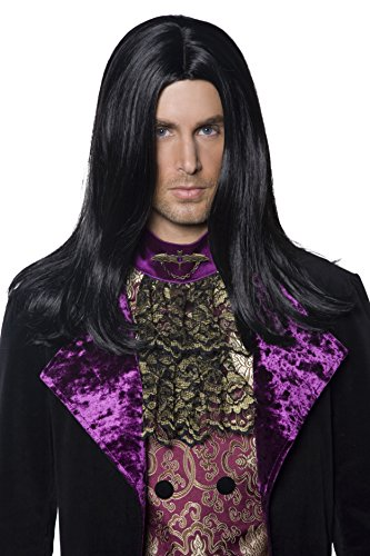 long black fancy dress wigs - 3