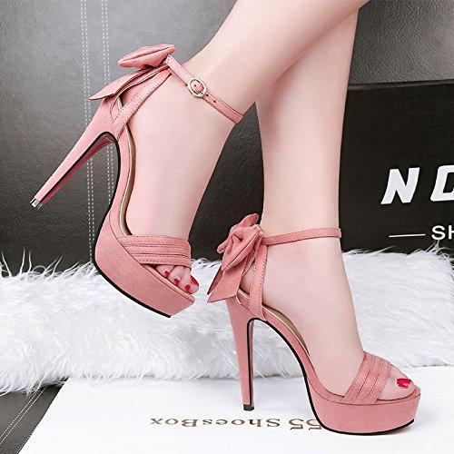 91c77847 Tacones Altos Verano Mujer Negro 12Cm Zapatos de tacón Alto con Dedo del  pie Delgado con