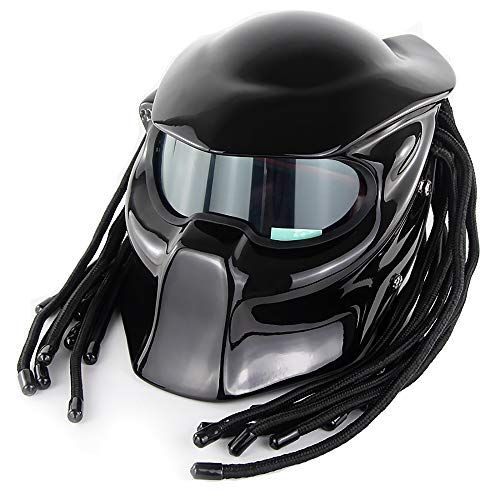 Mistwind Predator Motorcycle Helmet DOT Approve Personalized Unisex Full face Helmet Science Fiction Movie Character Cosplay mask Helmet with Laser ()