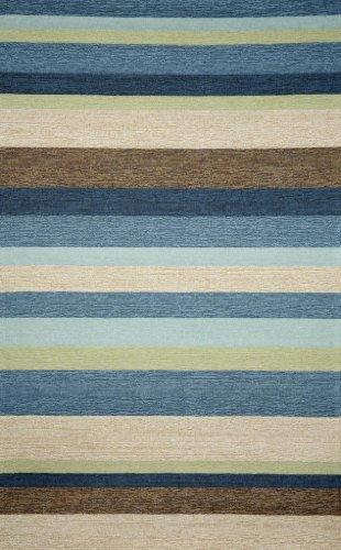 (Ravella Stripe Denim Indoor / Outdoor Rug Rug Size: Runner 2' x 8')