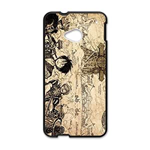 One Piece Cartoon Anime Black HTC M7 case