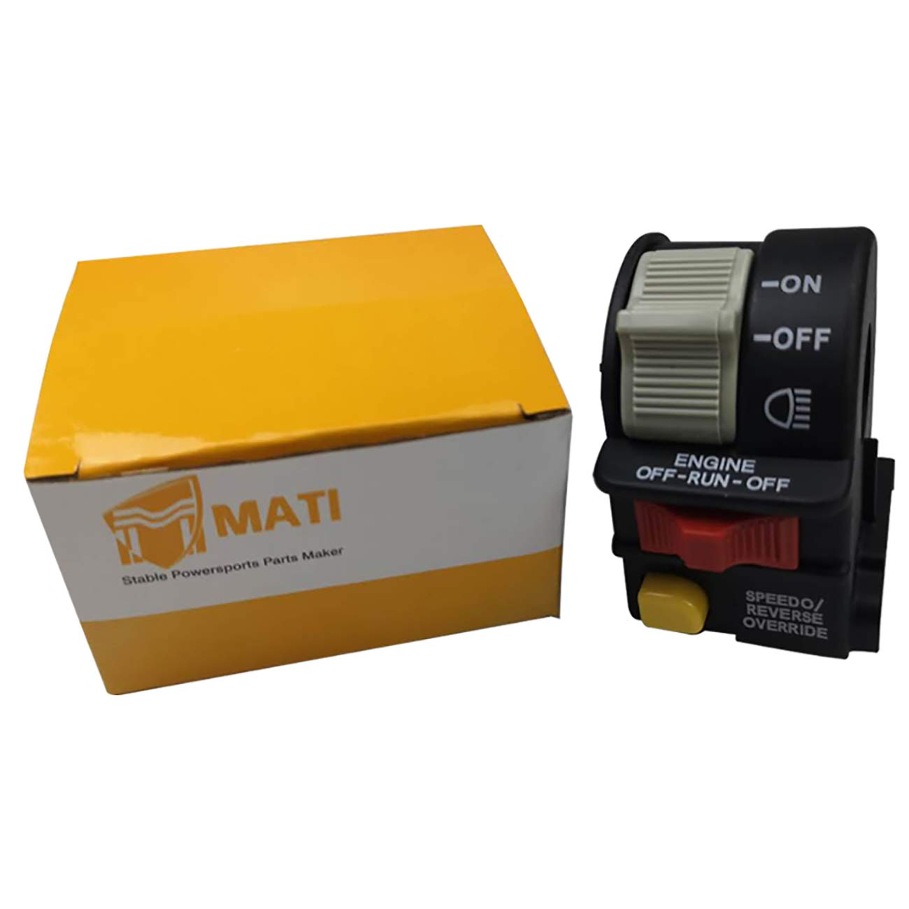 Mati 4011655 4011516 Left Handlebar Headlight On Off Switch Assembly for Polaris Hawkeye 300 Scrambler 500 Sportsman 300 400 850 XP 1000 Trail Blazer 330 Trail Boss 330