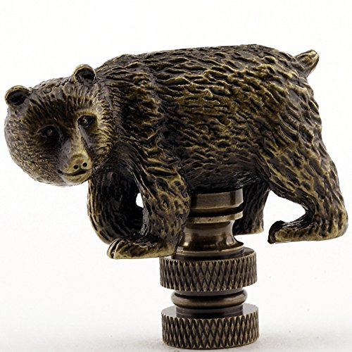 Walking Bear Lamp Finial in Antique Brass finish - 1.75 Inches high by Unknown (Image #1)'