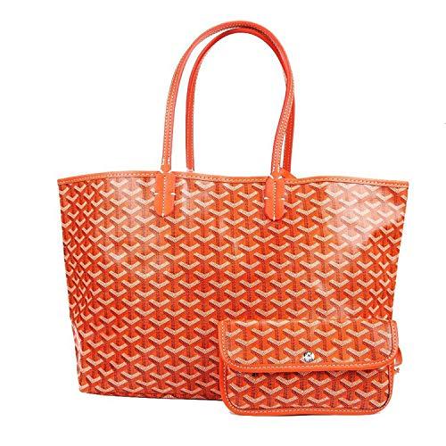 - Stylesty Fashion Shopping PU Tote Bag, Designer Shoulder Handbags with Key Ring (Large, Orange)