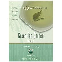 Davidson's Tea Green Tea Garden, 8-Count Tea Bags (Pack of 12)