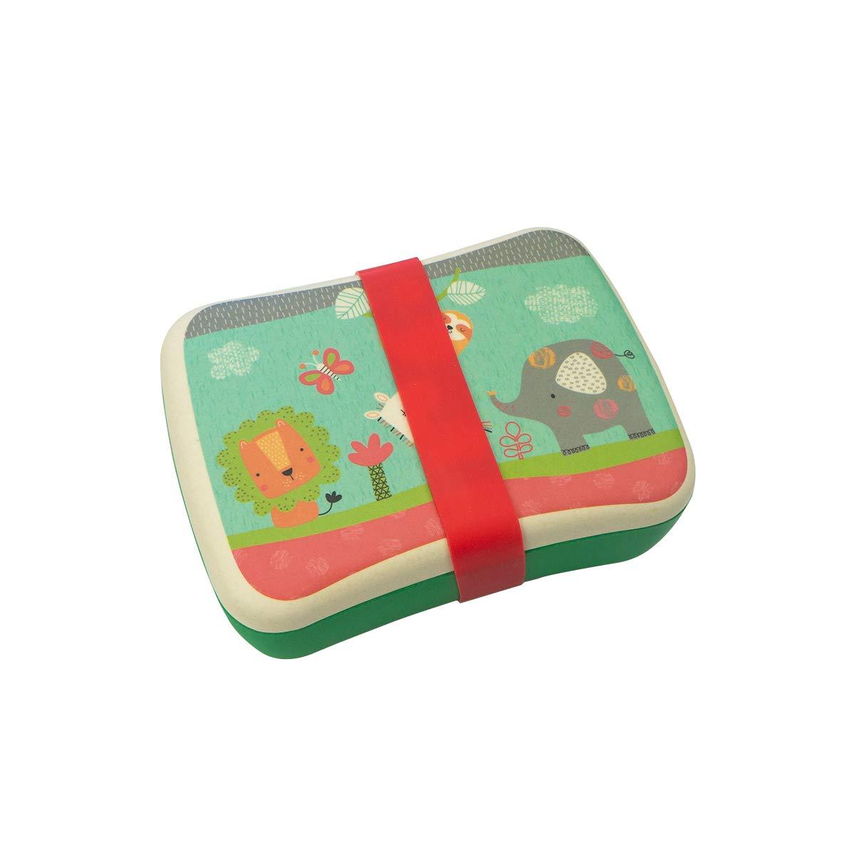 Fiambrera,Tupper,lonchera infantil,Fibra de Bambú,Conjunto Sandwichera y Tupper de bambú.ideal para infantil niños y bebé,Material ecológico sin BPA, ...