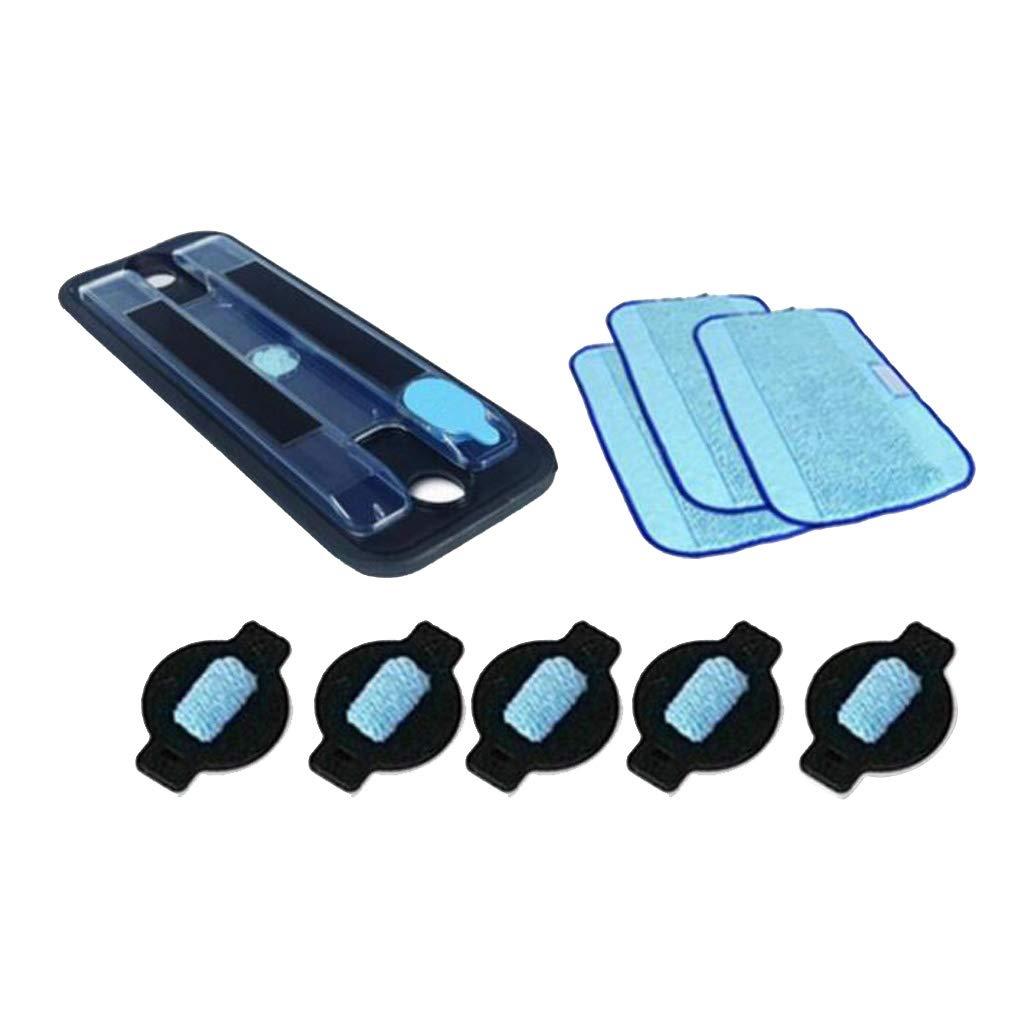 5xWater Wick Cap para Braava 3xWet Pro-Clean Mopping Cloth PETSOLA Bandeja 1x Wet