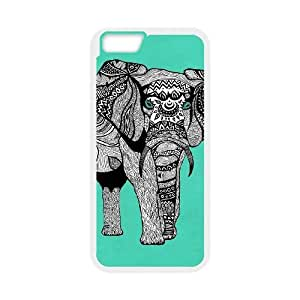"""S-ADFG Cover Shell Phone Case Elephant Aztec Tribal For iPhone 6 Plus (5.5"""")"""