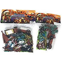 Cowboys and Indians Western Adventure Play Set Bundle: Two Sets Contains Over 50 Figures And Accessories