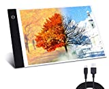 CAIWEI LED Light Board,A4 Light Box USB Ultra-Thin Dimmable Brightness Tracing Light Pad Portable Art Craft Light Table for 5D DIY X-ray Diamond Painting Artist Drawing Sketching Animation Design