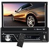 """AEG AR 4026 - Radio para coche (DVD/CD, pantalla LCD táctil de 7""""/17,5 cm, ranura para tarjetas SD, puerto USB), color negro"""