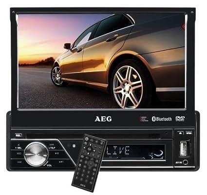 AEG AR 4026 - Radio para coche (DVD/CD, pantalla LCD táctil de