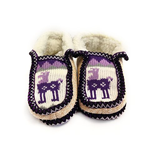 The Argentino Slippers Handmade Moccasin (real Wool Inside!) Desde Salta, Argentina Violeta Claro