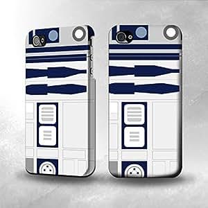 Apple iPhone 4 / 4S Case - The Best 3D Full Wrap iPhone Case - R2D2 Minimalist