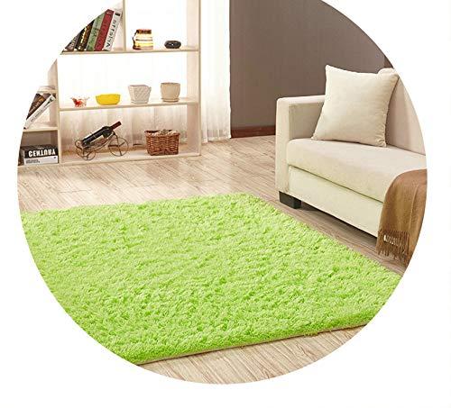 Super Soft Silk Wool Rug Indoor Modern Shag Area Rug Silky Rugs,Green Fruit,160X200cm