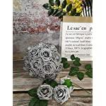 J-Rijzen-Jing-Rise-Artificial-Flowers-50pcs-Real-Touch-Silver-Grey-Fake-Roses-with-Stem-for-Bride-Wedding-Bouquet-Baby-Shower-Flowers-Centerpieces-Party-Home-DecorationsSilver-Grey