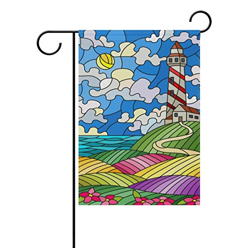 WXLIFE Garden Flag 28 X 40 Large Inches, Beach Theme Lightho