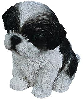 Hi Line Sitting Shih Tzu Puppy Figurine Black/White