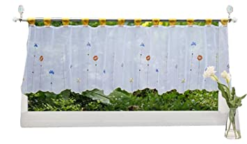 Amazoncom Homeyho Short Curtains For Small Window Sheer