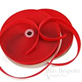 27 Yard Rolls of 5/8'' Wide Sew-on Hook and Loop Fastening Tape, Bright Red