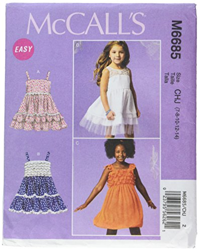 McCall Patterns Dresses Template 7 8 10 12 14