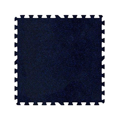 Alessco EVA Foam Rubber Interlocking Premium Soft Carpets 20' x 20' Set Navy Blue