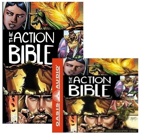ACTION BIBLE Book & CD Bundle:The Action Bible:By Sergio Cariello