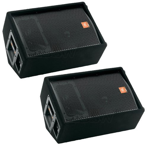 JBL JRX212 12' Passive Two-Way Stage Monitor Speaker Pair PA Package by JBL