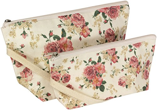 UPC 739189329977, Cosmetic Bags, Makeup, Travel, 100% Cotton, Set of 2 (Vintage Floral)