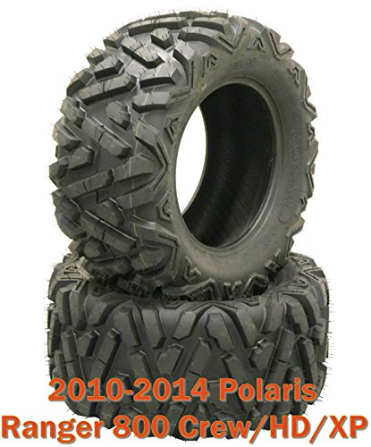 (2) 26x11R12 Radial ATV Rear Tire Set for 10-14 Polaris Ranger 800 Crew/HD/XP