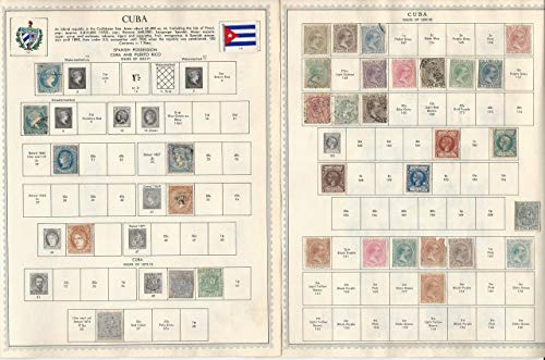 Caribbean Island Stamp Collection 1855-66 On 20 Minkus Pages