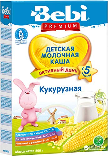 Bebi Milk Corn Cereal for Babies from 5 months 7oz/200g from Europe