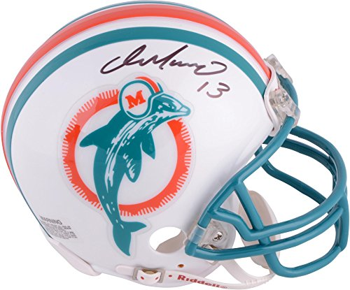 Dan Marino Miami Dolphins Autographed Riddell Throwback Mini Helmet - Fanatics Authentic Certified - Autographed NFL Mini (Dan Marino Autographed Dolphins)