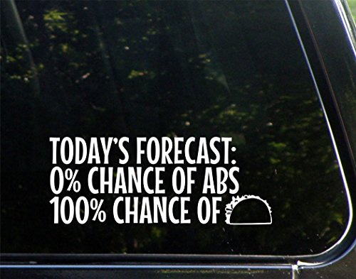 Today's Forecast: 0% Chance Of Abs 100% Chance of TACOS- 8-3/4