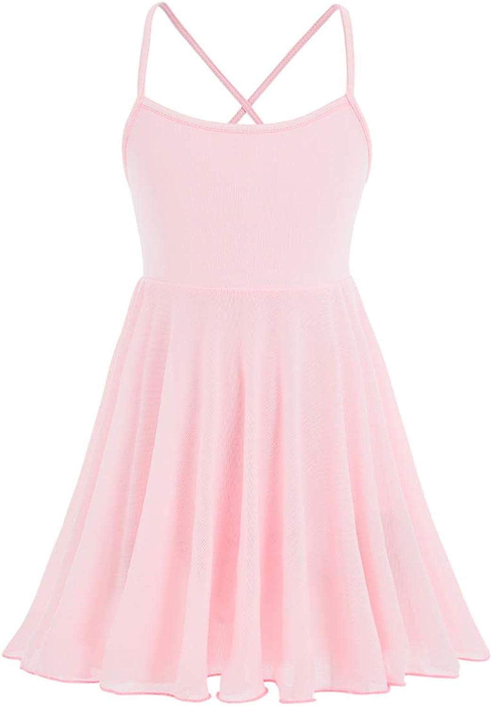 STELLE Girl's Camisole Ballet Leotard Dress for Dance, Gymnastics and Ballet(Toddler/Little Girl/Big Girl)
