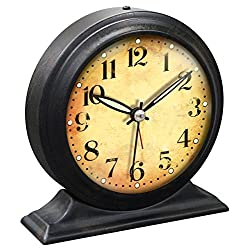 5.75 inch Black Metal Alarm Clock Boutique by Infinity Instruments