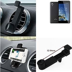 Titular Smartphone para el coche para Kazam Trooper 2 6.0. Parrilla del coche montaje del sostenedor del coche para el teléfono inteligente. De aplicación universal. Negro. Fácil de instalar, sujeción segura. Utilizar el teléfono como un dispositivo de navegación, o hacer llamadas durante la conducción a través del kit de coche. Simple, funcional, segura, cómoda, universal.