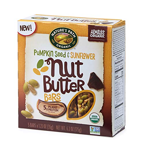(Nature's Path Pumpkin Seed and Sunflower Nut Butter Bars, Healthy, Organic, 6.2-Ounce Box (Pack of 6) )