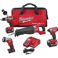 Milwaukee 2896-24 M18 FUEL Cordless 4-Tool Combo Kit Deals