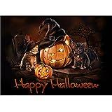 #9: Fairylove 30×40 Diamond Painting Full Halloween Paint with Diamonds Dotz Kit Cross Stitch Kits Embroidery Art Crafts,Pumpkin and Devil Kittens