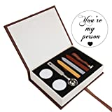 You're My Person Wax Seal Stamp Kit, Yoption Classic Vintage You're My Person Seal Wax Stamp Set, Retro You're My Person Seal Stamps Maker Gift Box Set