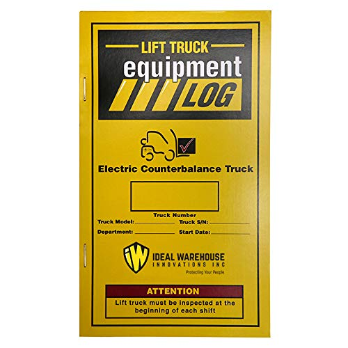 Replacement Lift Truck Log Book for Electric Counterbalance