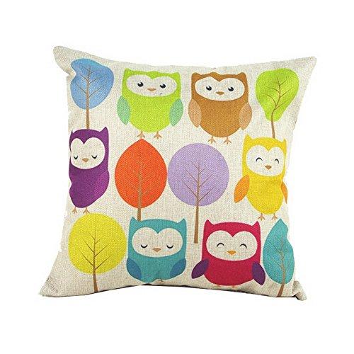 Owl with Tree Cute Cartoon Child's Gift Pillowcase