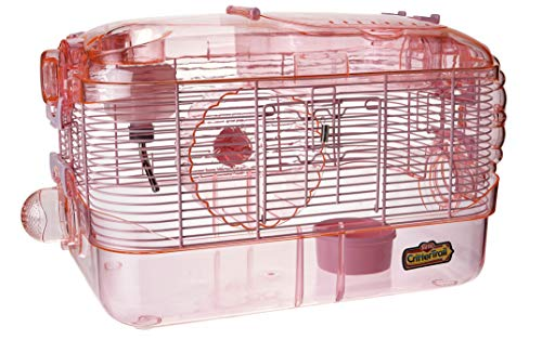 Kaytee CritterTrail One Level Habitat Pink Edition (Best Cage For Teddy Bear Hamster)