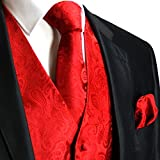 Men's 3pc Paisley Set (XL-Red )