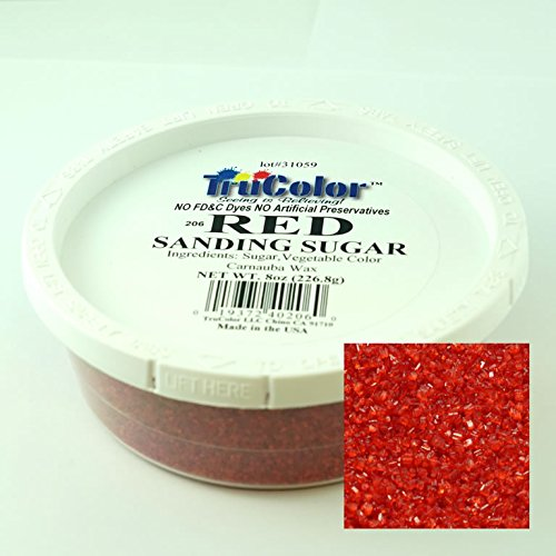 TruColor Natural Sanding Sugars Red (1x8 Oz)