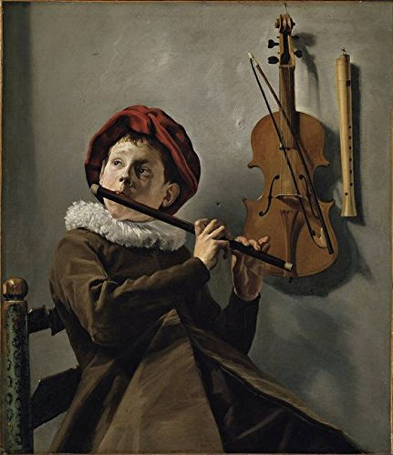 Wall Art Print entitled Judith Leyster - Boy Playing A Flute [1630-35] by Celestial Images | 36 x (Boy Playing Flute)