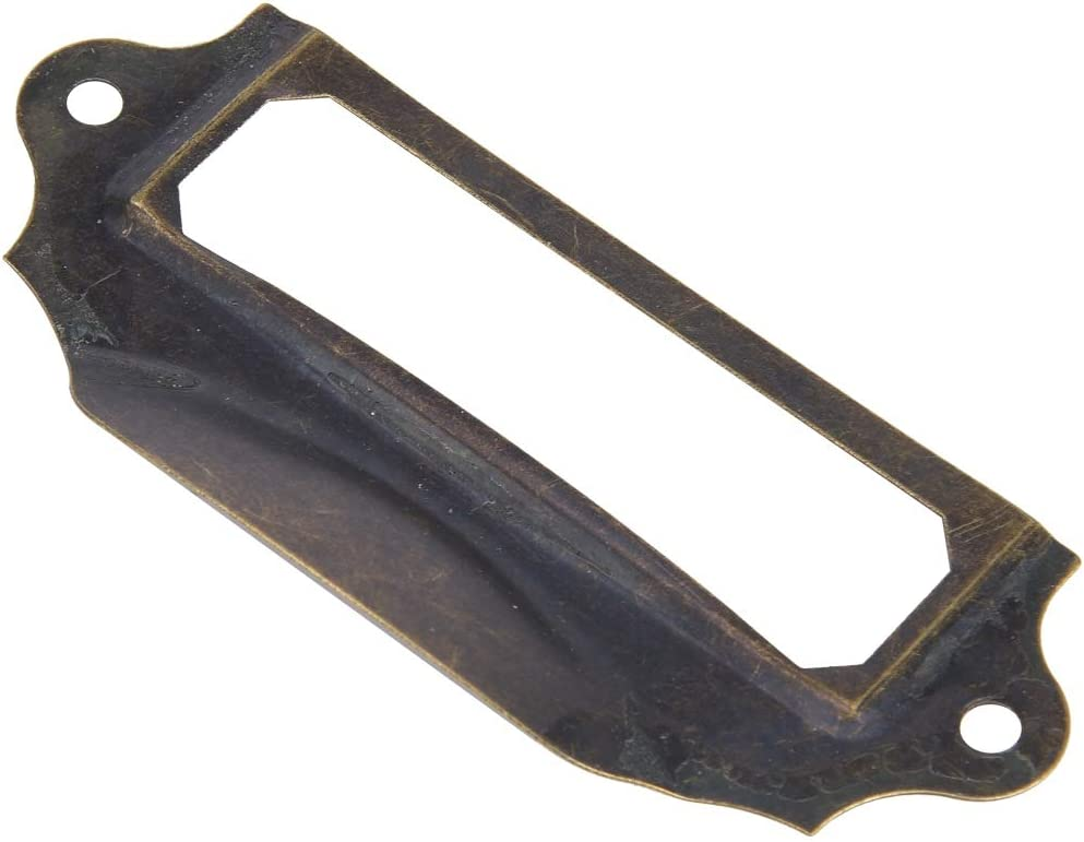Antique Bronze Vert Armature Cadre Pulls Titulaire De La Carte Tiroir Pull Titulaire /Étiquettes Vintage Tiroir Box Case Poign/ée with10Pcs Vis B3036 HEEPDD 10 Pcs Label Pulls