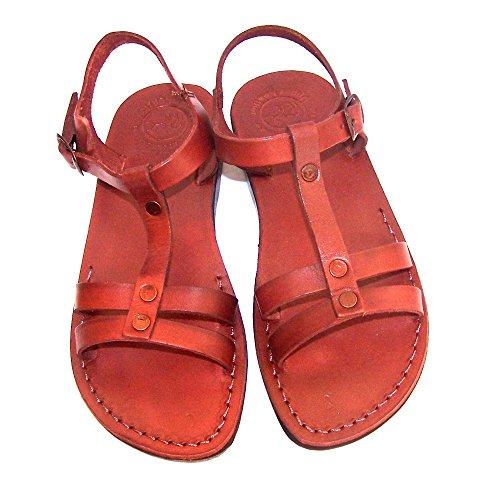 Sandalias Bíblicas / Sandalias De Cuero Genuino Para Niños Unisex / Adultos (peter The Fisherman) - Mercado De Tierra Santa Camel Trademark